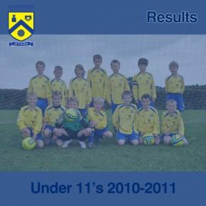 U11 Results – 17th October 2010