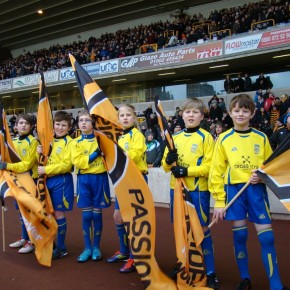 Penkridge Junior Under 9`s Flag Bearers at The Molineux