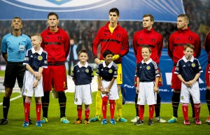 06/09/13 - 13090605 - LEO SPORTS SCOTLAND V BELGIUM HAMPDEN - GLASGOW Mascots