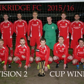 Penkridge FC First team celebrate lifting their second trophy in eight days